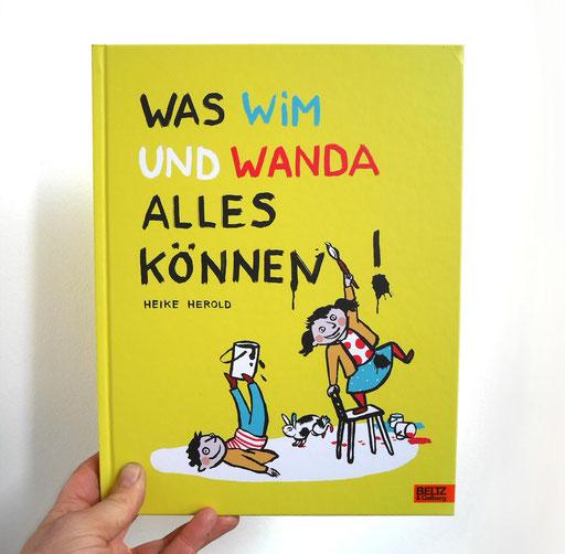Heike Herold, Was Wim und Wanda alles können, Beltz Verlag, Beltz und Gelberg, Bilderbuch, Illustration, Pinselzeichnungen