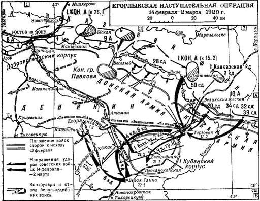 Бои за Доном и севере Кубани январь-февраль 1920 год