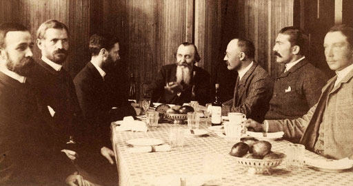 Dr. Peter Dettweiler im Kreis der Ärzte, 1890