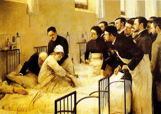 Visite im Hospital, Luis Jiménez Aranda 1889 (Prado Madrid)