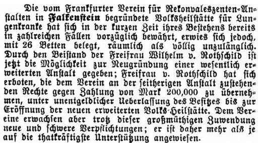 """Artikel in der Zeitschrift """"Der Israelit"""" vom 16. Februar 1893"""