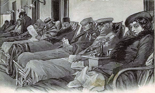 Liegekur Davos, Künstlerkarte 1910