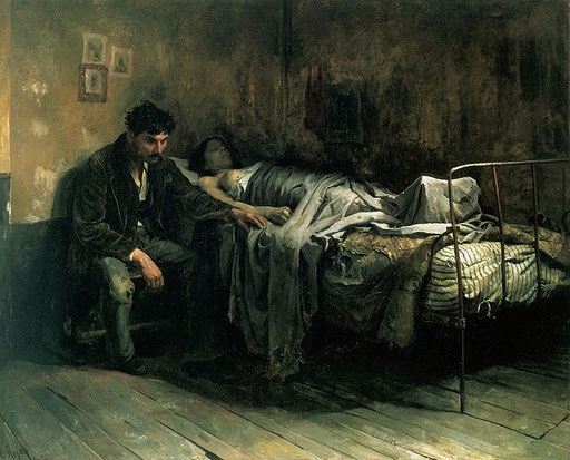 La Miseria, Cristobal Rojas 1886