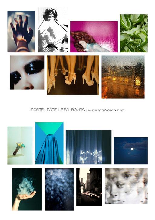 Aude Buttazzoni, moodboard, mood, board, planche ambiances, film, director, frederic guelaff, Sofitel le Faubourg, sofitel, STAY, event
