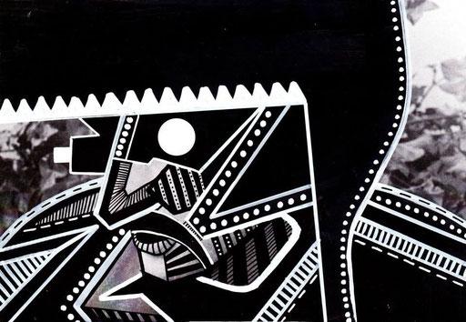 Série MUSAFAR-21/14,8cm-encre sur impression-2013