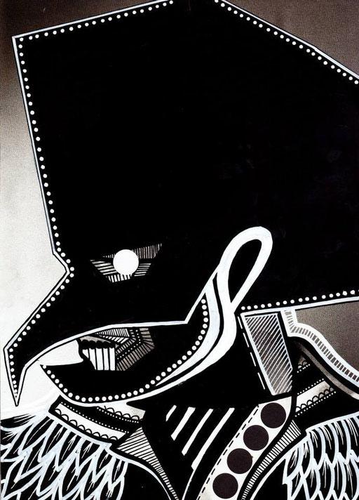 Série MUSAFAR-21/30cm-encre sur impression-2013