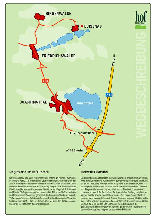 Wegbeschreibung Hof Luisenau