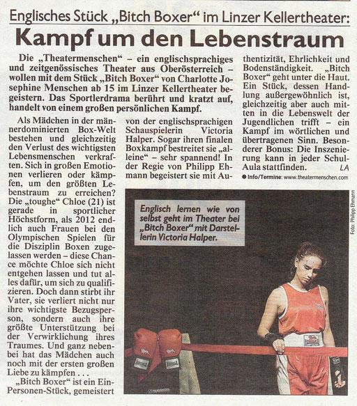 Kritik zu Bitch Boxer - Theatermenschen Linz