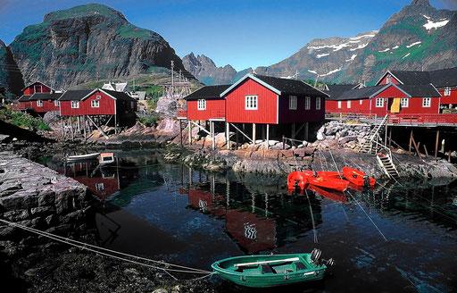 Norvège,08 1997,Rorbuers aux Lofoten