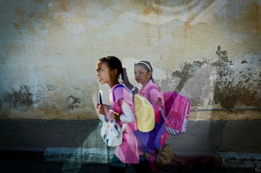 Tunisie,09 2011,retour d'école,Tamerza