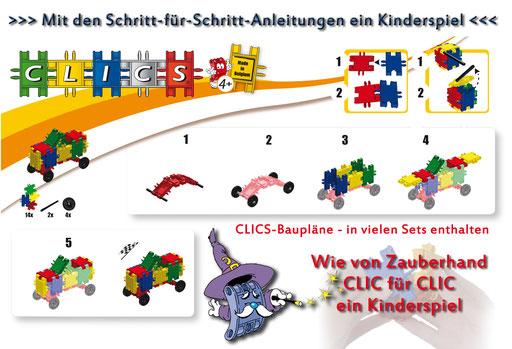 CLICS Baupläne zum Download