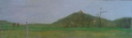 peinture de paysage sur bois