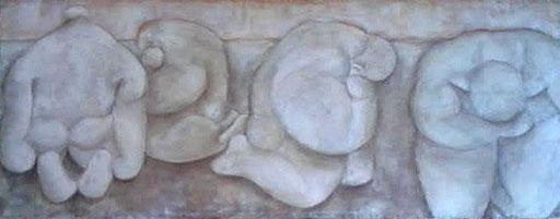Acrylique et pigments sur toile