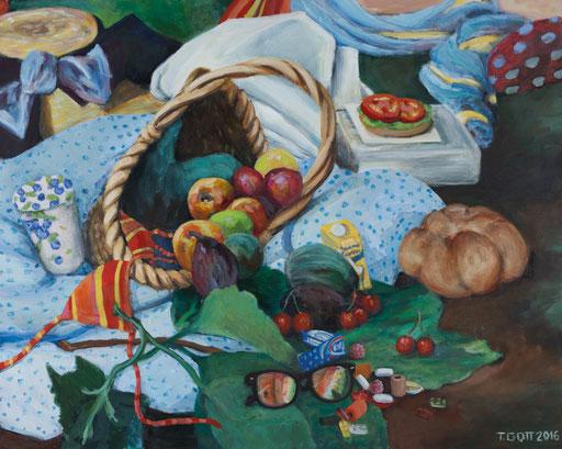 picknickkörbchen früchte Manet frühstück im grünen  Gemälde HARIBO COLORADO SONNENBRILLE