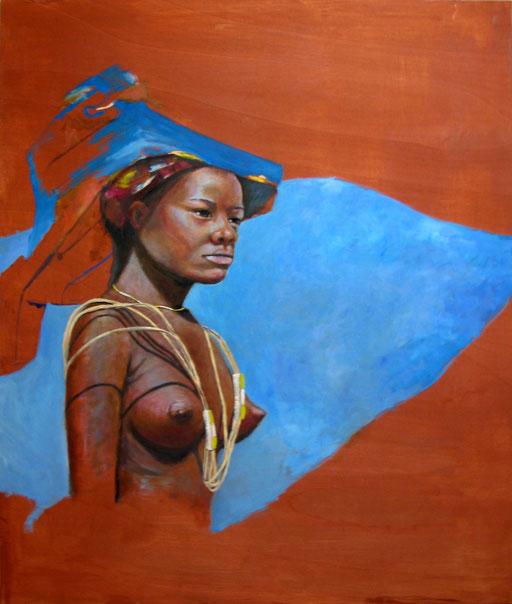 Afrika Fenster, Öl auf Holz, 130 x 105 cm, 2016