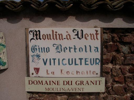 The famous Moulin a Vent area