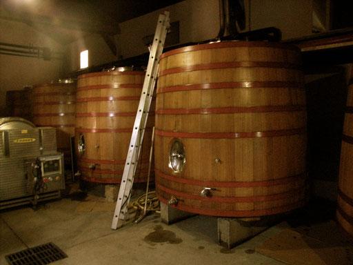 Fermentation tanks Chateau La Dorgonne
