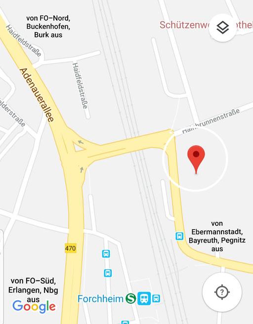 Anfahrt google move Praxis Andreas Spätling Obere Bayerische Gasse 2 91320 Ebermannstadt