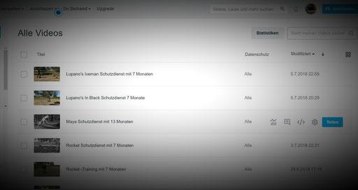 Auf das Bild klicken um zu allen von mir hoch geladenen Videos auf Vimeo zu gelangen.