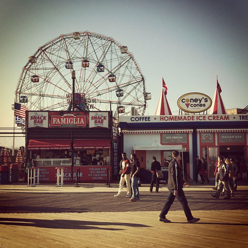 Coney Island on a sunny day