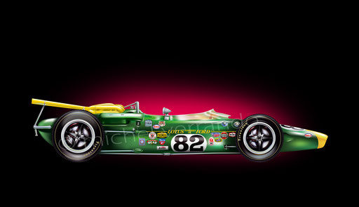 Jim Clark - Indianapolis - art automobile - automotive - Michel Verrando