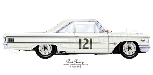 ford galaxie - art- painting- illustration - verrando-