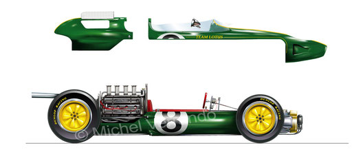lotus 25 drawing jim clark artistic painting