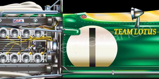 Jim Clark - Lotus 43 - Watkins Glen - Art - Painting -