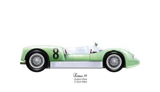 Jim Clark - Lotus 19 - Art automobile automotive painting - automobilia