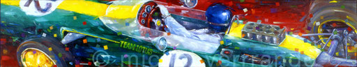 art automobile jim clark automotive art f1 painting art automobile lotus 25 automotive art
