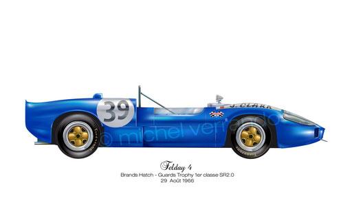 Michel Verrando - Fellay - Peinture automobile - illustration - Jim Clark