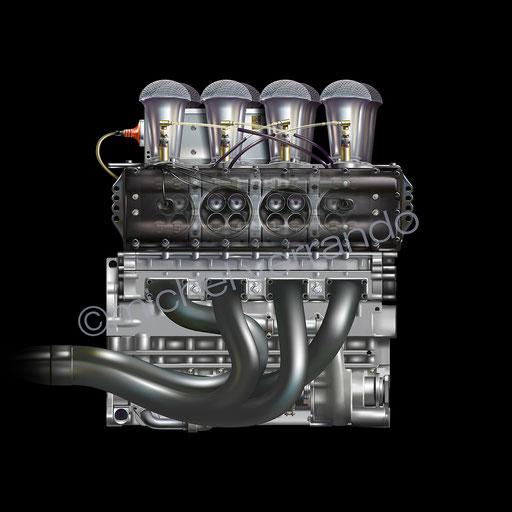 Art - Drawing - Illustration - Cosworth - Verrando - Painting - Automobilia - Motor - F1