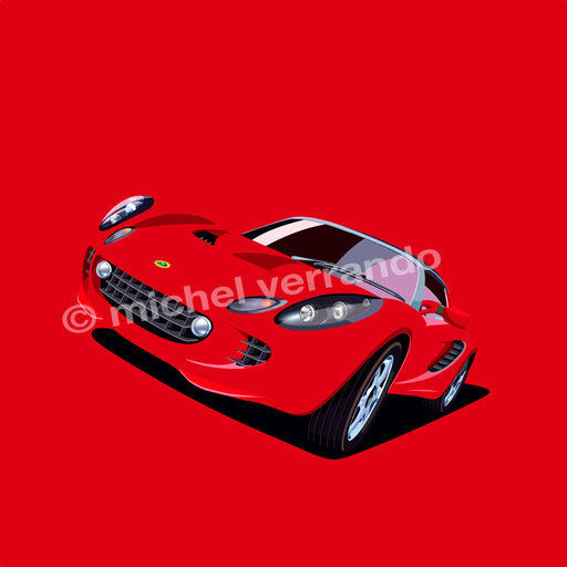 lotus elise art illustration painting verrando automotive