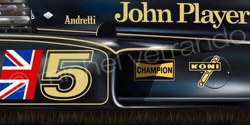 Mario Andretti - Lotus 77 - Fuji - Art - Painting -