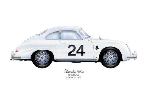 Jim Clark art painting Porsche 356