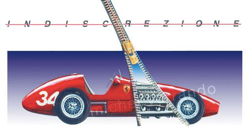 Ferrari 500  - art automotive - Michel Verrando - Painting