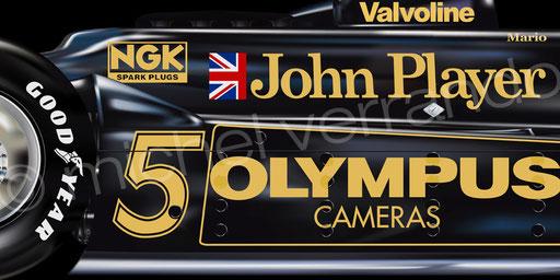 Mario Andretti - Lotus 78 - Paul Ricard - Art - Painting -