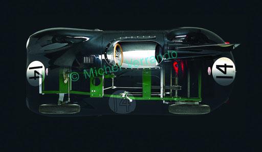 """Jaguar Type D """"Violetta"""" llustration réalisée sur logiciel Photoshop"""