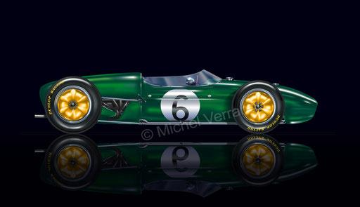 Lotus 18. Jim Clark, 1er grand-prix. Zandvoort 1960