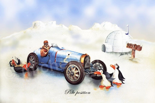 Bugatti humour - painting bugatti - Michel Verrando