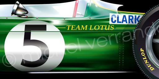Jim Clark - Lotus 33 - Silverstone - Art - Painting -