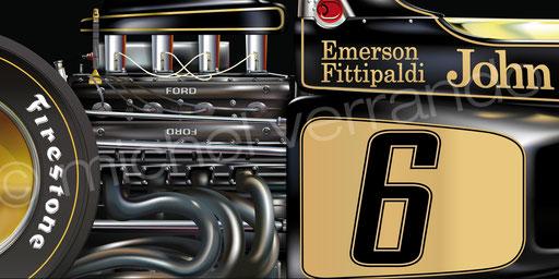 Emerson Fittipaldi - Lotus 72 - Monza - Art - Painting -
