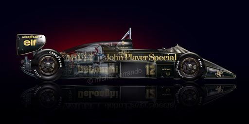 automotive art F1 Lotus John Player Special