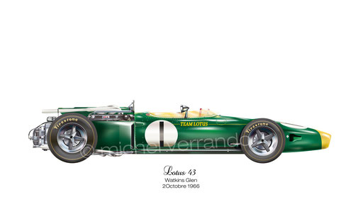 Art automotive lotus 43 jim clark painting