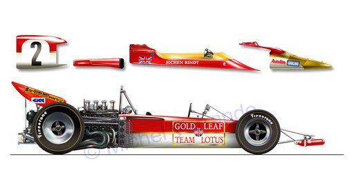Lotus 72. Jochen Rindt. Hockenheim 1970