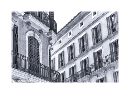Bürgerhäuser in der Altstadt von Palma....
