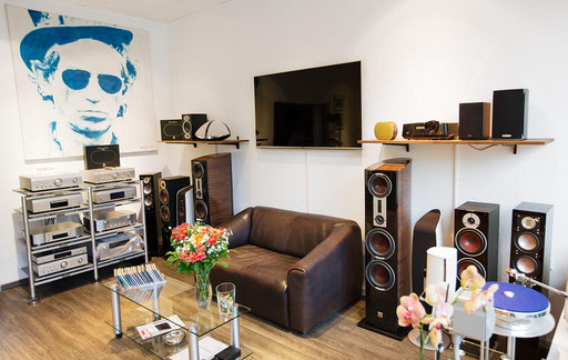 Der Hauptraum des Hifi Studios