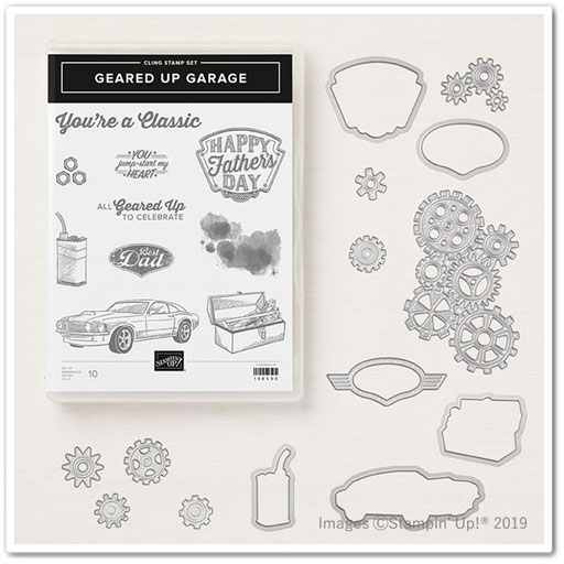 geared up garage stampin' Up!