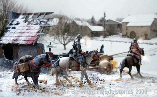 Goumiers marocains 2 cavaliers + une mule