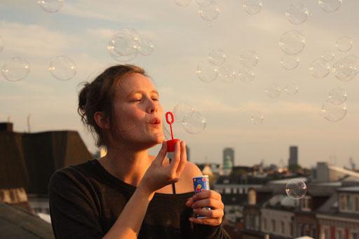 Seifenblasen über Hamburg...